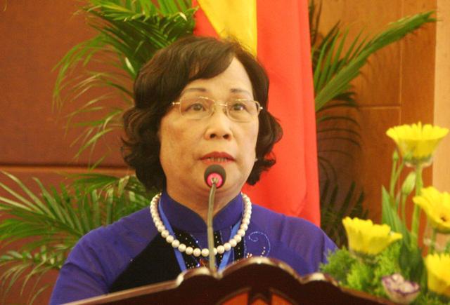 Bộ trưởng Bộ Lao động - Thương binh và Xã hội Phạm Thị Hải Chuyền.<br>