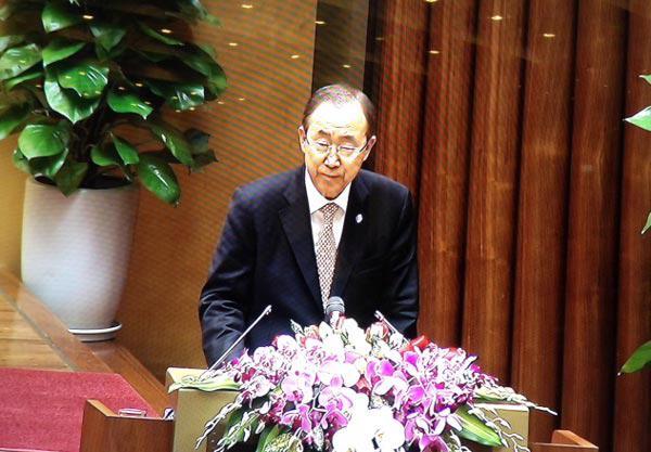 Theo ông Ban Ki Moon, Việt Nam và Liên hiệp quốc là các đối tác rất tự nhiên.