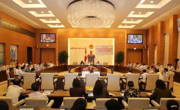 Hội nghị đại biểu Quốc hội chuyên trách ngày 24/8.