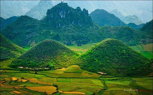 Tổng diện tích tự nhiên của vườn quốc gia Du Già - cao nguyên đá Đồng Văn là 15.006,3 ha.