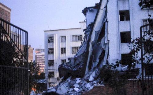 Một ngôi nhà bị sập trong vụ nổ ở Liễu Châu, Trung Quốc ngày 30/9 - Ảnh: Reuters.<br>
