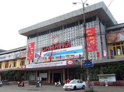 Một góc ga Hà Nội.<br>