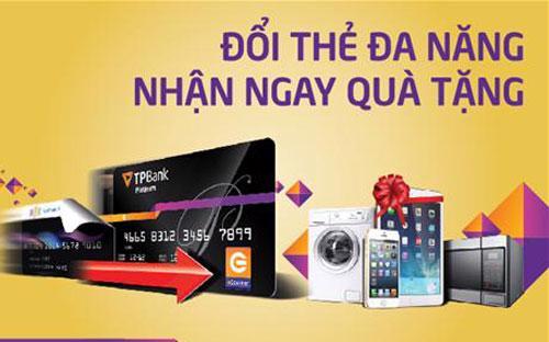 Từ ngày 24/9 - 16/12/2014, TPBank đã tiến hành nâng cấp thẻ ATM thành  thẻ eCounter miễn phí cho khách hàng trên toàn hệ thống chi nhánh.