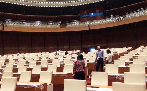 Công trình Nhà Quốc hội đã được sử dụng cho kỳ họp thứ 8, khoá 13 vừa qua của Quốc hội.<br>