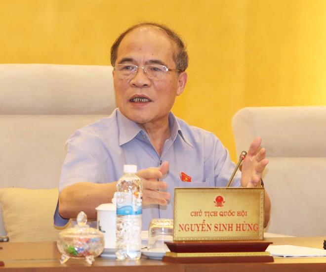 Chủ tịch Quốc hội Nguyễn Sinh Hùng.<br>