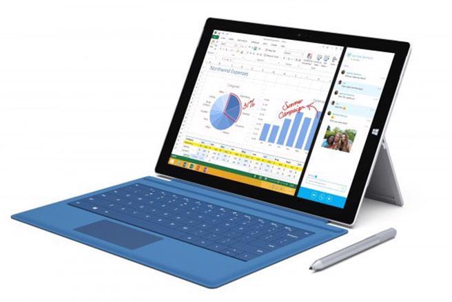 "<span style=""font-size: small;"">Dòng máy tính bảng Surface Pro thế hệ thứ 3 của Microsoft.</span>"