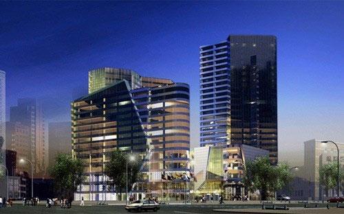 Phối cảnh thiết kế tháp đôi 265 Cầu Giấy.<br>