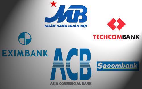 Khoảng cách về lợi nhuận trong top 5 ngân hàng cổ phần hàng đầu Việt Nam vẫn doãng rộng.
