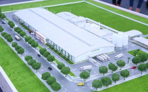 Vinasoy - Bắc Ninh được xây dựng trên tổng diện  tích 61.000 m2 nằm trong khu công nghiệp Tiên Sơn, tỉnh Bắc Ninh.