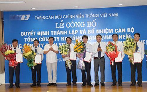 Lễ ra mắt 3 tổng công ty mới của VNPT.