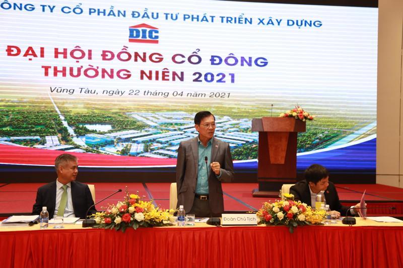Ông Nguyễn Thiện Tuấn - Chủ tịch Hội đồng Quản trị Tập đoàn DIC phát biểu khai mạc tại Đại hội.