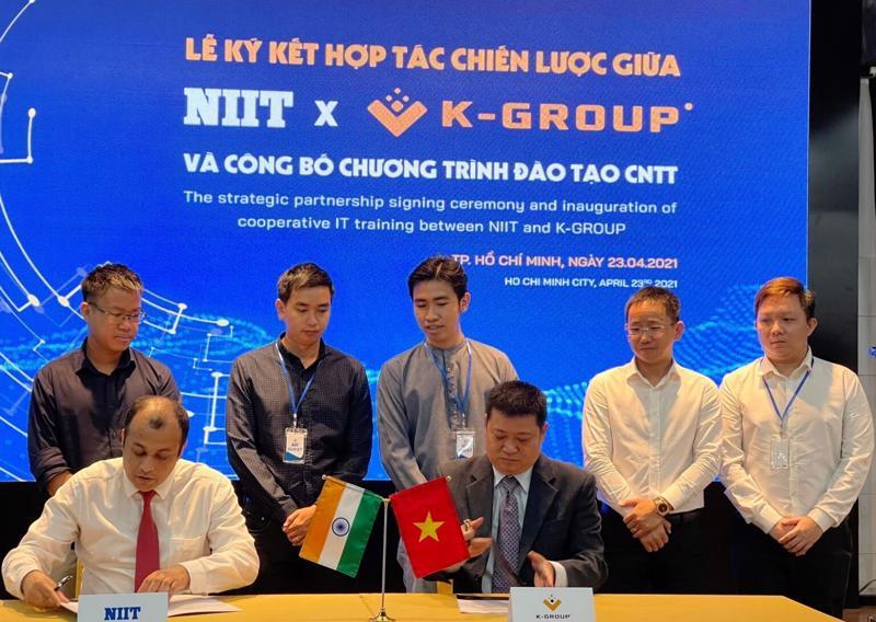 """K-Group hợp tác NIIT đào tạo AI, IoT để giải """"cơn khát"""" nhân lực CNTT."""