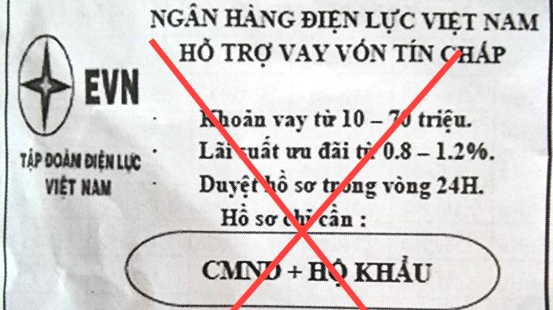 Tập đoàn Điện lực Việt Nam cảnh báo lừa đảo