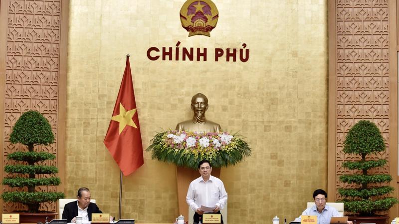 Thủ tướng Phạm Minh Chính chủ trì phiên họp Chính phủ ngày 15/4 - Ảnh: VGP