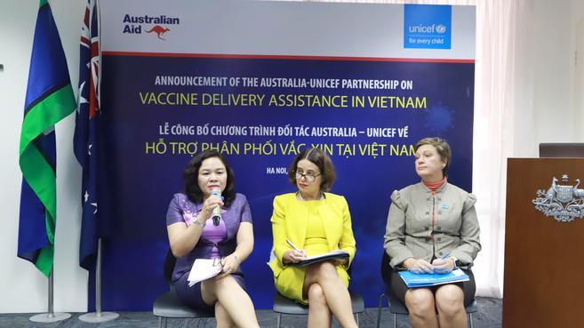 Đại sứ quán Australia tại Hà Nội và Quỹ Nhi đồng Liên hiệp quốc công bố gói hỗ trợ trị giá 13,5 triệu Đô la Úc