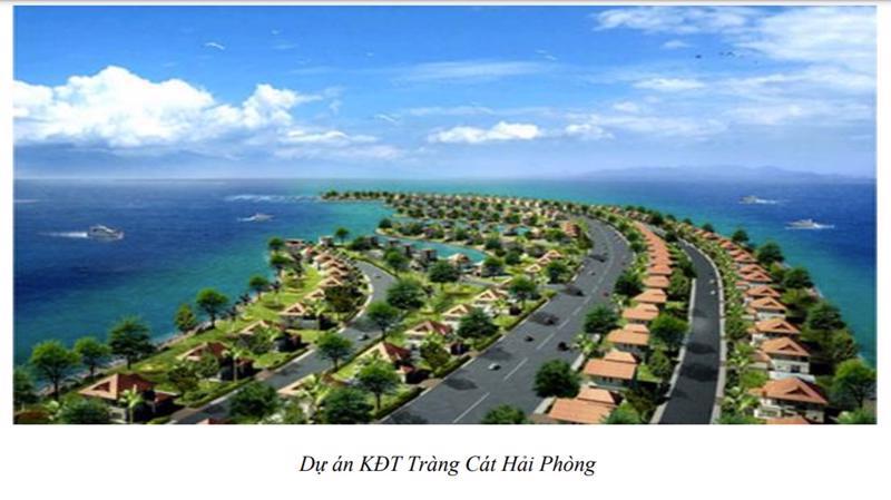 Với tổng diện tích trên 800 ha, dự án Tràng Cát bao gồm: KCN công nghệ cao – Khu đô thị - Khu vui chơi giải trí – Khu biệt thự lấn biển.