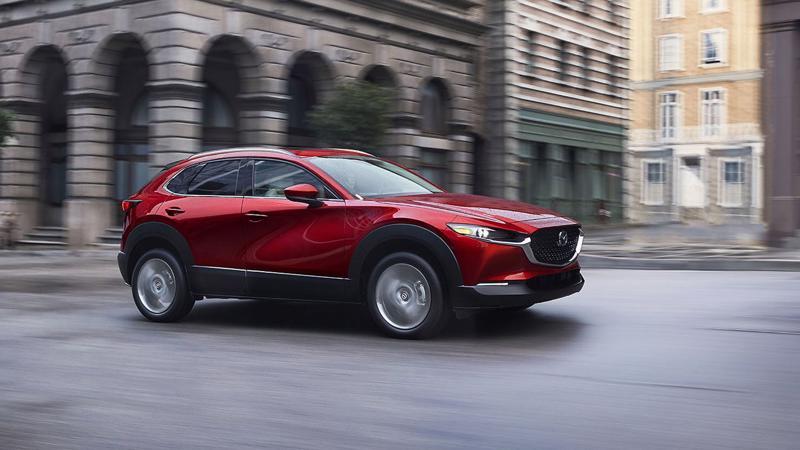 Mẫu xe Mazda CX-30 nhập khẩu nguyên chiếc từ Thái Lan.