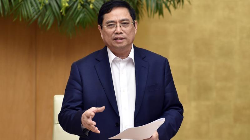 Thủ tướng Phạm Minh Chính chủ trì phiên họp Chính phủ đầu tiên sau khi kiện toàn nhân sự - Ảnh: VGP