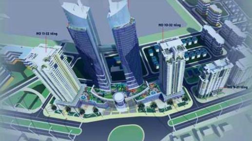 Phối cảnh dự án Dự án Khu đô thị mới Dịch Vọng, Cầu Giấy, Hà Nội của Lideco.