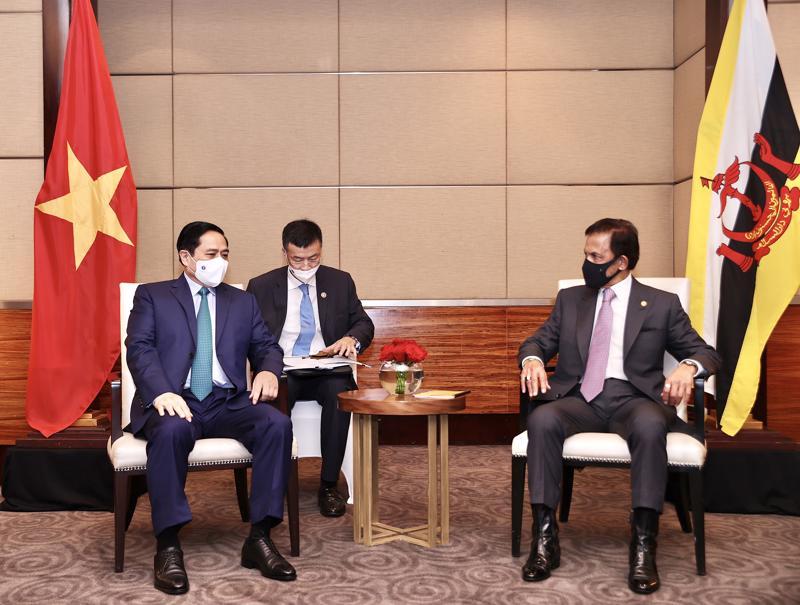 Thủ tướng Chính phủ Phạm Minh Chính hội kiến Quốc vương Brunei Darussalam Haji Hassanal Bolkiah