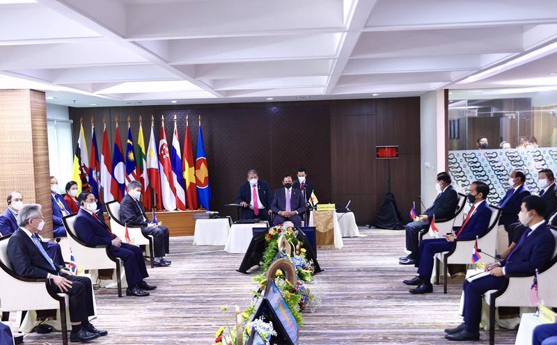 Hội nghị các nhà Lãnh đạo ASEAN chiều 24/4 - Ảnh: VGP