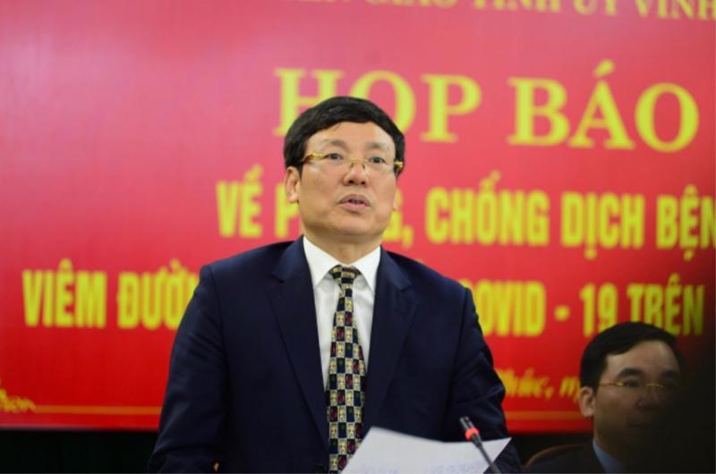 Ông Lê Duy Thành, Chủ tịch UBND tỉnh Vĩnh Phúc
