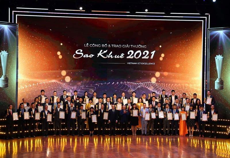 180 giải pháp, dịch vụ CNTT xuất sắc được trao Giải thưởng Sao Khuê 2021