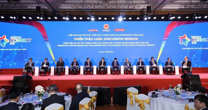 """Toàn cảnh phiên thảo luận của Diễn đàn """"Nhịp cầu phát triển 2021"""""""