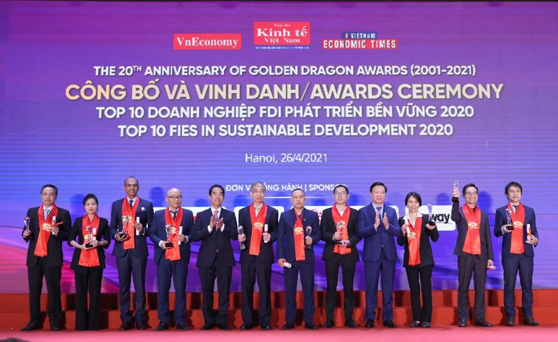 Vinh danh Top 10 doanh nghiệp FDI phát triển bền vững.