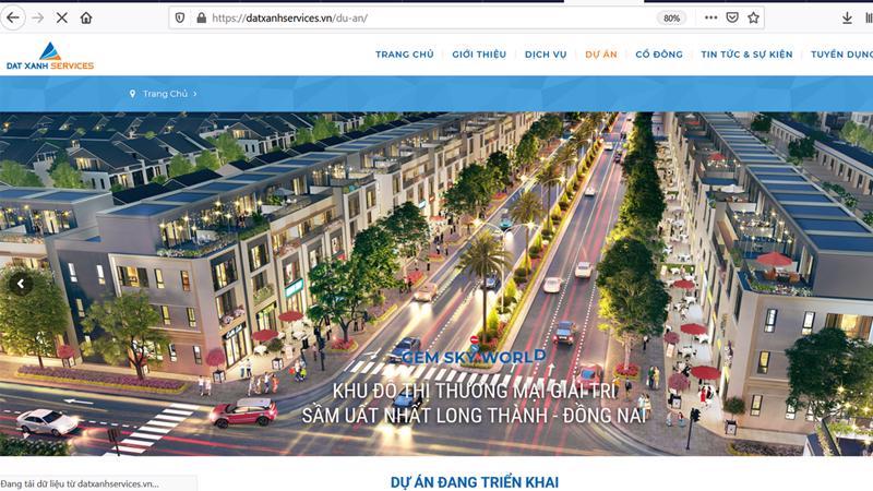 Trang web của Dat Xanh Services.