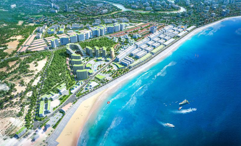 Hamubay là dự án đất nền nghỉ dưỡng biển độc đáo hiện nay, khi chiếm lĩnh vị trí trải dài trên hai phường Lạc Đạo và Đức Long.