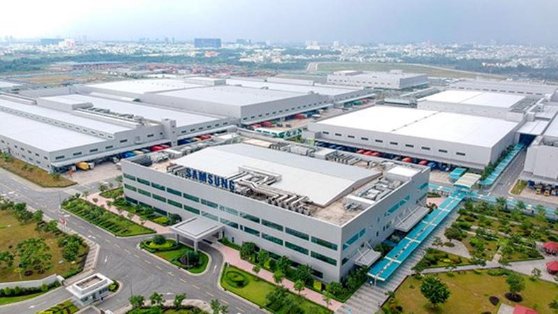 Tổ hợp sản xuất của Samsung tại Khu Công nghệ cao TP.HCM.