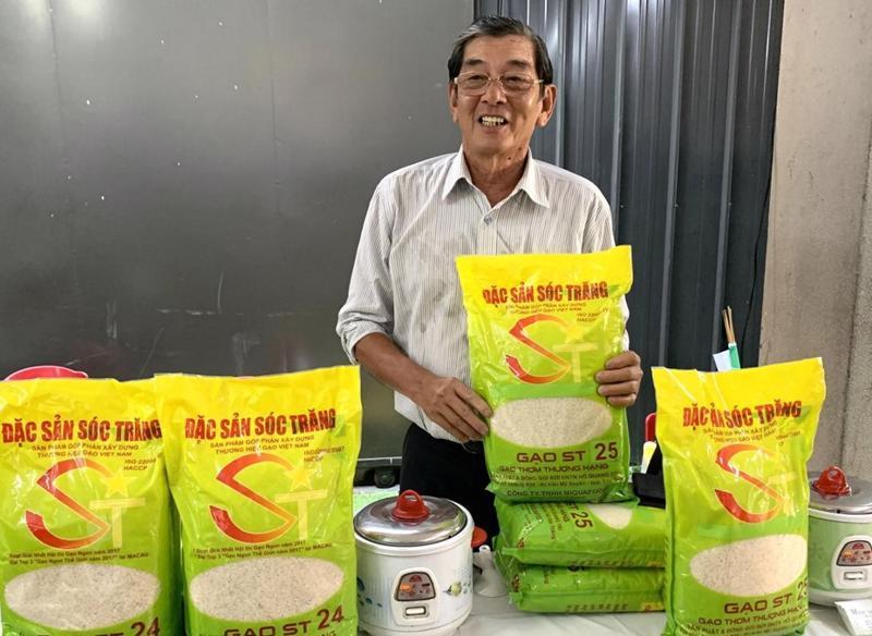 Nhãn hiệu gạo ST24 và ST 25 đã được cấp bằng bảo hộ tại Việt Nam