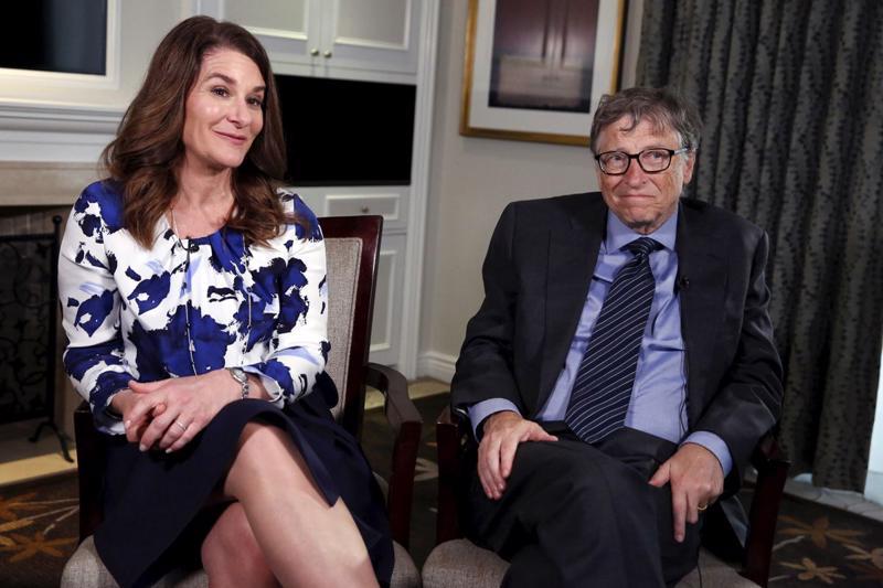 Vợ chồng Bill và Melinda Gates trong một cuộc trả lời phỏng vấn ở New York tháng 2/2016 - Ảnh: Reuters.