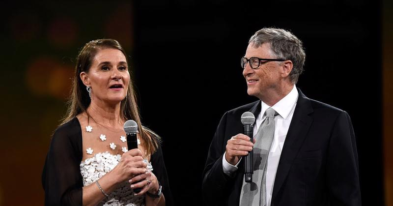 Vợ chồng tỷ phú Bill Gates - Ảnh: AP