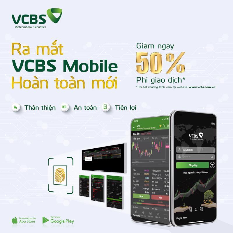 Nhân dịp này, VCBS triển khai chương trình ưu đãi giảm 50% phí giao dịch dành cho toàn bộ khách hàng tại VCBS.
