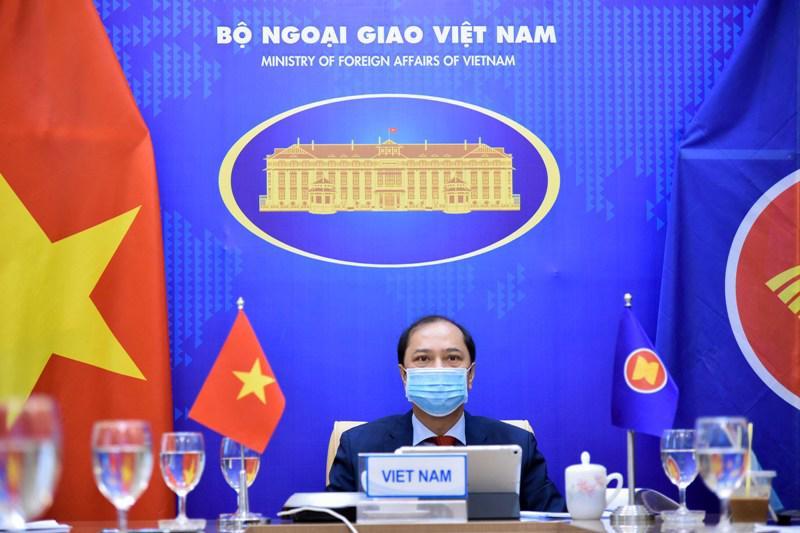 Thứ trưởng Bộ Ngoại giao Nguyễn Quốc Dũng tại Đối thoại - Ảnh: Bộ Ngoại giao