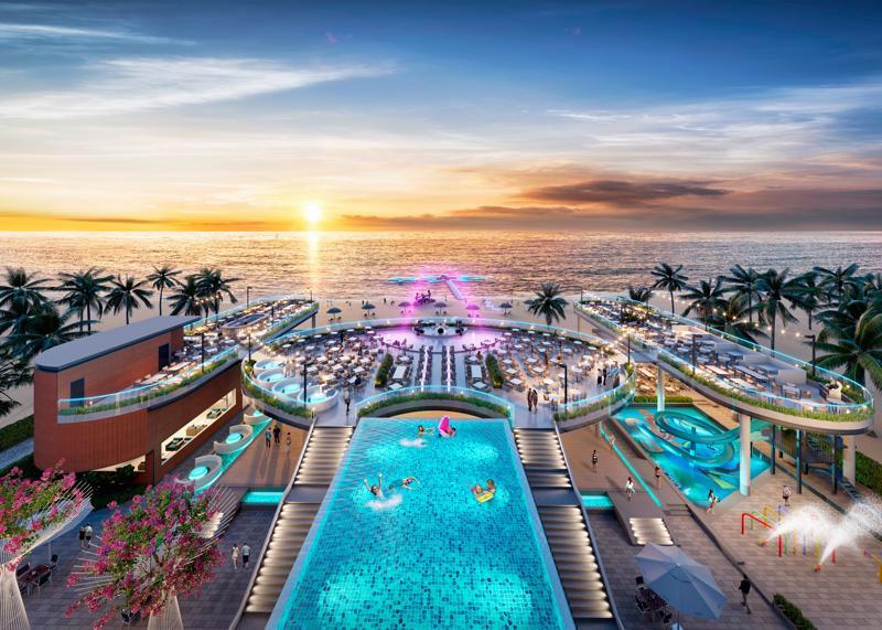 Từ Long Beach Resort Phú Quốc có thể chiêm ngưỡng khung cảnh biển hữu tình.