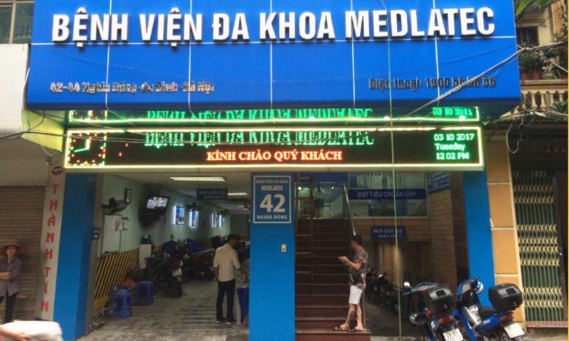 Bệnh viện Đa khoa Medlatec thông báo ngừng tiếp nhận bệnh nhân tại cơ sở 42-44 Nghĩa Dũng từ 11h30 ngày 7/5