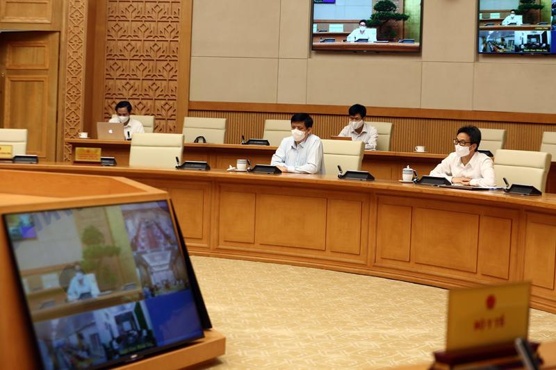 Phó Thủ tướng Vũ Đức Đam tại cuộc họp - Ảnh: VGP