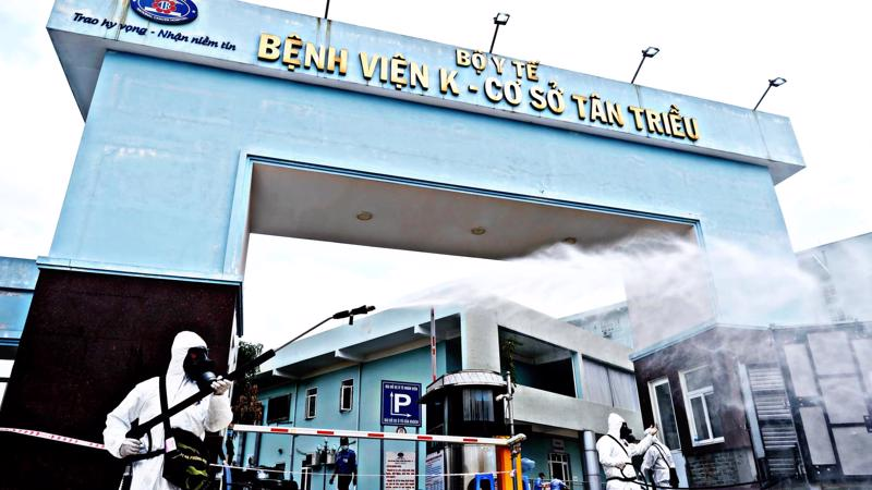 Bệnh viện K cơ sở Tân Triều. Ảnh - Phạm Hùng.