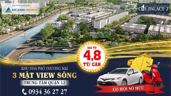 Đất Xanh Premium đang triển khai chương trình ưu đãi trúng thưởng ôtô Camry 2.5 2020; xe Vespa Sprint 125i 2020 cho nhà phố thương mại One Palace 2.