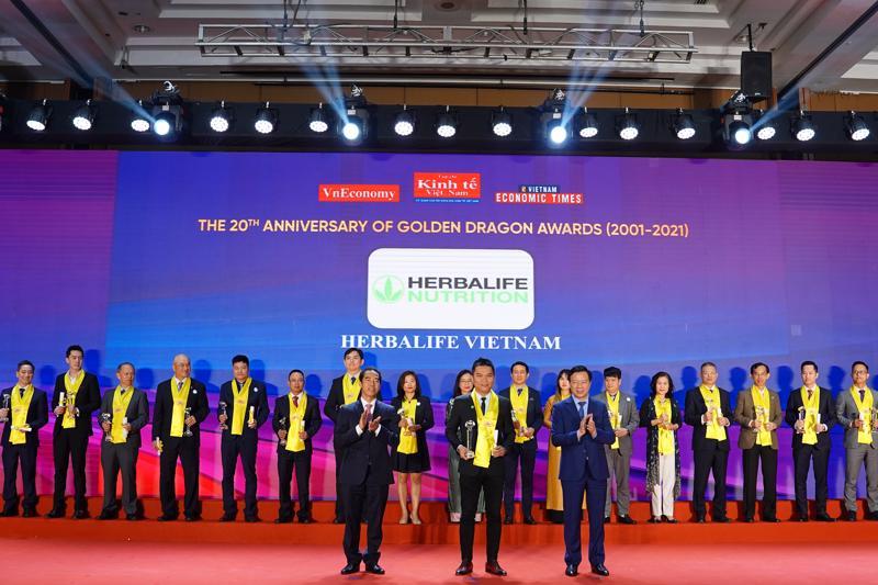 Herbalife Việt Nam vinh dự nhận giải thưởng Sản Phẩm Vàng trong nhiều năm liên tiếp.