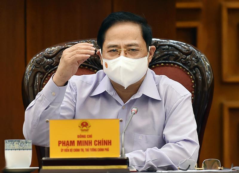 Thủ tướng Phạm Minh Chính tại cuộc họp Thường trực Chính phủ chiều 10/5 - Ảnh: VGP.