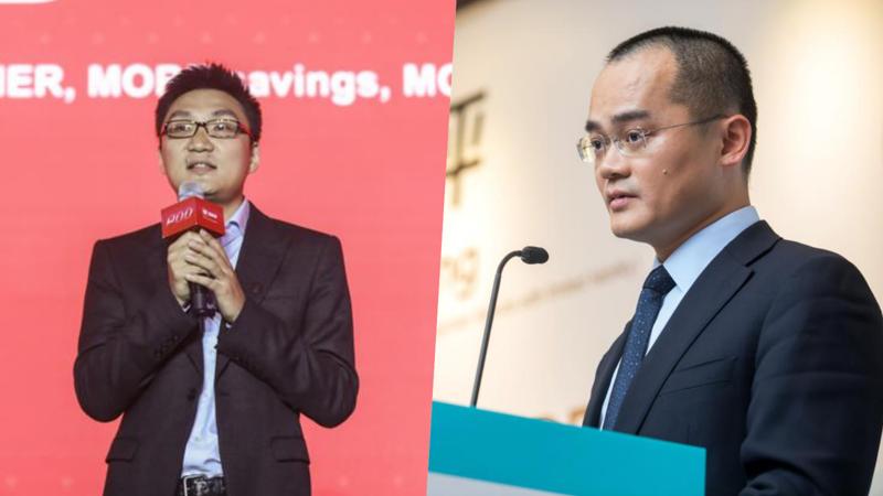 Huang Zheng, người sáng lập Pinduoduo (ảnh trái) và Wang Xing, người sáng lập Meituan - Ảnh: Bloomberg/Getty Images.