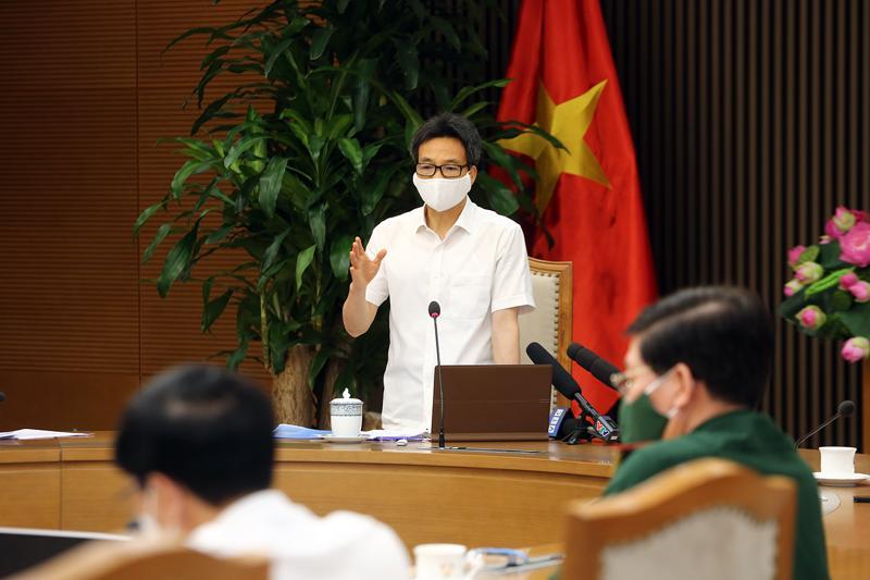 Phó Thủ tướng Vũ Đức Đam phát biểu chỉ đạo tại cuộc họp - Ảnh: VGP.