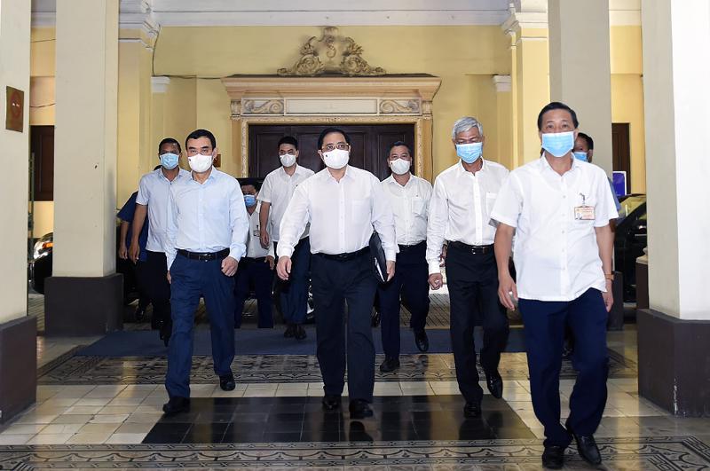 Thủ tướng Phạm Minh Chính làm việc với TpHCM - Ảnh: VGP.