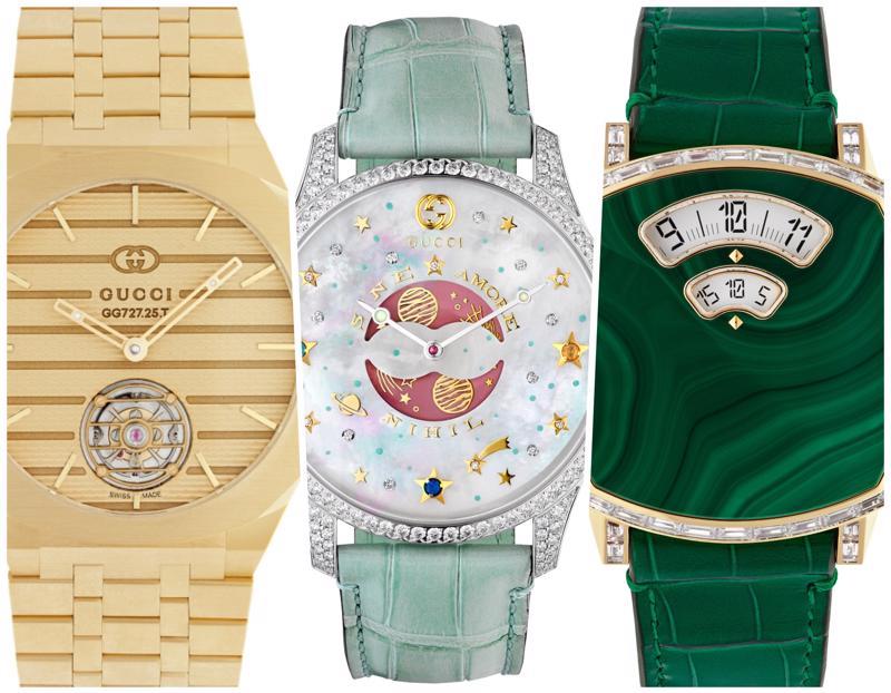 Gucci đã công bố ra mắt bộ sưu tập đồng hồ cao cấp đầu tiên của mình tại triển lãm thương mại Watches & Wonders.