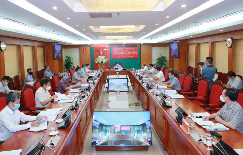 Kỳ họp thứ 3 của Ủy ban Kiểm tra Trung ương - Ảnh: UBKTTW.