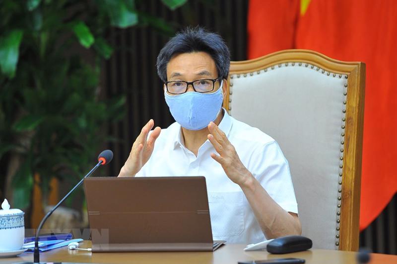 Phó Thủ tướng Vũ Đức Đam tại cuộc họp - Ảnh: TTXVN.